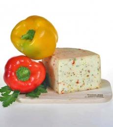 peperoni thymian käse, formaggio al timo e peperoni, sennerei algund, latteria di lagundo