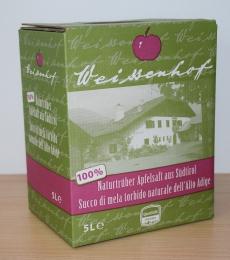 apfelsaft weissenhof, succo di mela weissenhof