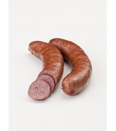 bauernhauswurst, wurstel affumicati