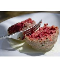 Rohnenknödel mit Graukäse, Canederli barbabietola rossa con Graukäse formaggio grigio